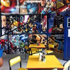 Tienda de cómics   Nerdvana Co.: Restaurantes de estilo  por Estudio Chipotle