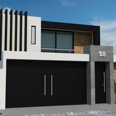 Casa Habitación: Casas de estilo  por Dehonor Arquitectos