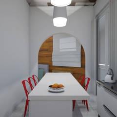 Cocina - Render 3d: Cocinas a medida  de estilo  por Mica Chapado