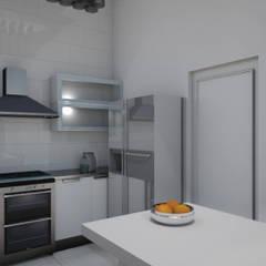 Cocina - Render 3d: Cocinas de estilo  por Mica Chapado