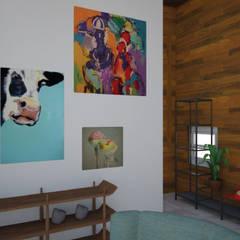 Villa de Mayo: Livings de estilo  por Mica Chapado