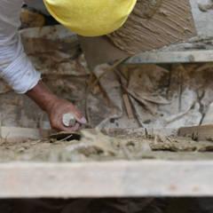 土壁: 水野設計室が手掛けた壁です。