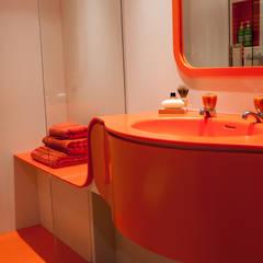 Orange Coloured Bathroom:  Bathroom by Solidity Ltd