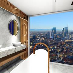 Banheiro Clean Contemporâneo: Banheiros minimalistas por Studio²