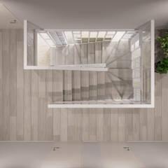 Escaleras de estilo  por Студия архитектуры и дизайна Дарьи Ельниковой