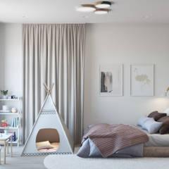 Nursery/kid's room by Студия архитектуры и дизайна Дарьи Ельниковой