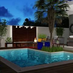 Buitenzwembad door Trivisio Consultoria e Projetos em 3D