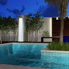 Área de lazer Perfeita: Piscinas ecléticas por Trivisio Consultoria e Projetos em 3D
