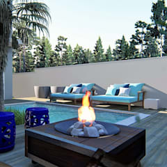 Jardines de estilo  por Trivisio Consultoria e Projetos em 3D
