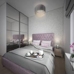 Przeciwieństwa się przyciągają.: styl , w kategorii Sypialnia zaprojektowany przez 4 kąty a stół 5 Pracownia Projektowa Ewelina Białobrzewska