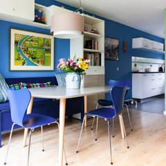 Eethoek en keuken: eclectische Eetkamer door Regina Dijkstra Design