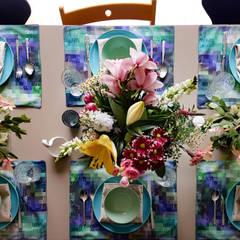 Persoonlijke placemats, ontworpen en gemaakt door Regina Dijkstra Design: eclectische Eetkamer door Regina Dijkstra Design