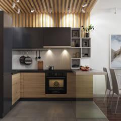 Квартира холостяка: Кухни в . Автор – GraniStudio