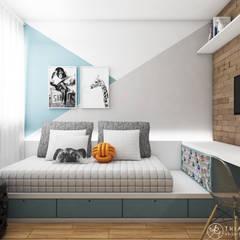 غرفة نوم أولاد تنفيذ Thiara Garcia Arquitetura e Interiores