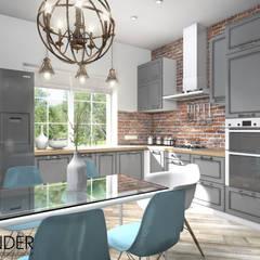 Частный жилой дом в стиле Лофт: Кухни в . Автор – RENDER