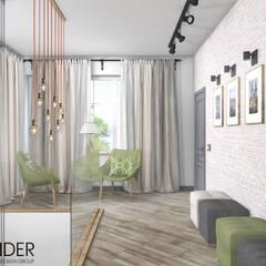 Частный жилой дом в стиле Лофт: Лестницы в . Автор – RENDER