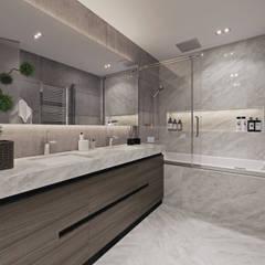 ЖК «Рублевские огни»   Residential complex «Rublevskie ogni»: Ванные комнаты в . Автор – Дмитрий Коршунов