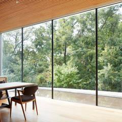 豊能郡の家:大きな窓から臨む雑木林: 藤原・室 建築設計事務所が手掛けた窓です。