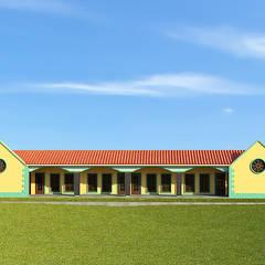 Fachada: Estudios y oficinas de estilo clásico por Interacción Arquitectos
