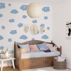 Tapeta dziecięca Clouds in Blue: styl , w kategorii Pokój dla dziecka zaprojektowany przez Humpty Dumpty Room Decoration