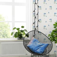 Tapeta dziecięca Blue Flowers: styl , w kategorii Pokój młodzieżowy zaprojektowany przez Humpty Dumpty Room Decoration