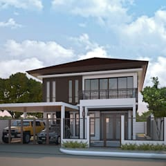 Proposed Two Storey Residence with Carport:  Single family home by MG Architecture Design Studio