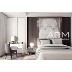 Interior Apartemen Jakarta:  Kamar Tidur by PT Adhi Rajasa Mahawirya