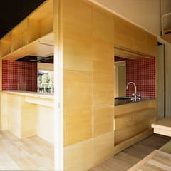 農家のはなれ: meenaxy design一級建築士事務所が手掛けたキッチン収納です。