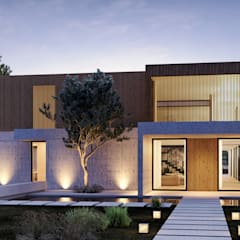 SG2 House - House in Herdade da Aroeira - Portugal - Architectural plan Oleh Traçado Regulador. Lda Modern Beton