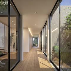 Corridor and hallway by Traçado Regulador. Lda