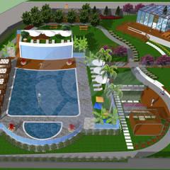 Notilus Peyzaj Tasarım ve Uygulama – Yüzme Havuzu: akdeniz tarzı tarz Bahçe