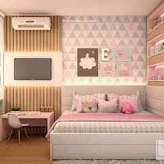 Recámaras para niñas de estilo  por Laura Mueller Arquitetura + Interiores