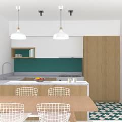 Villa Saint-Pancrace_Nice: Cuisine intégrée de style  par Marty Déco