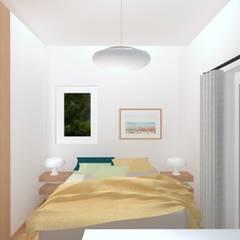 Villa Saint-Pancrace_Nice: Chambre de style  par Marty Déco