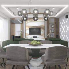 Интерьер квартиры с гостиной-студией, эклектика: Гостиная в . Автор – RENDER