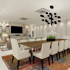 Casa Clássica: Salas de jantar clássicas por Grecco + Marques Arquitetos