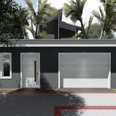 Fachada (muro) proposta: Casas familiares  por Milward Arquitetura