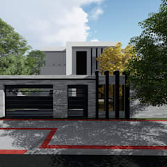 Fechada (muro) proposta: Casas familiares  por Milward Arquitetura