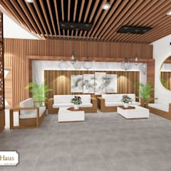 Timber office: Ruang Kerja oleh Braun Haus,