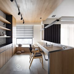 minimalistic Study/office by 極簡室內設計 Simple Design Studio