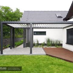 Zadaszenie tarasu z aluminium : styl , w kategorii Taras zaprojektowany przez P.W. Przybylski