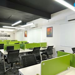 Let's Work - Coworking Space in Noida:  Office buildings by FYD Interiors Pvt. Ltd