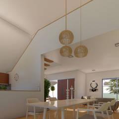 Casa L: Comedores de estilo  por DST arquitectura