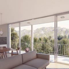 Casa Díaz: Livings de estilo minimalista por DST arquitectura