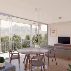 Casa Díaz: Comedores de estilo  por DST arquitectura