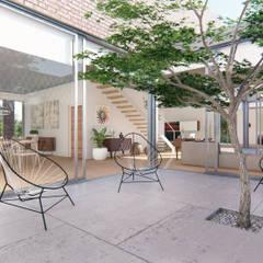 Casa Guevara Jardines de invierno minimalistas de DST arquitectura Minimalista