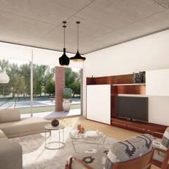 Casa Guevara: Livings de estilo minimalista por DST arquitectura