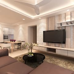 Singapore Apartment Design For Mrs. T:  Ruang Keluarga by March Atelier