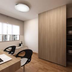 Singapore Apartment Design For Mrs. T: Ruang Kerja oleh March Atelier,