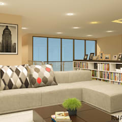YN House, Interior Design:  Ruang Keluarga by dk.std.id